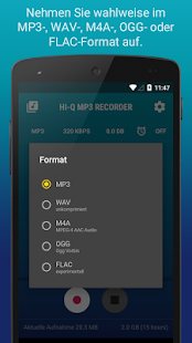 Hi-Q MP3 Recorder (Testversion) Screenshot