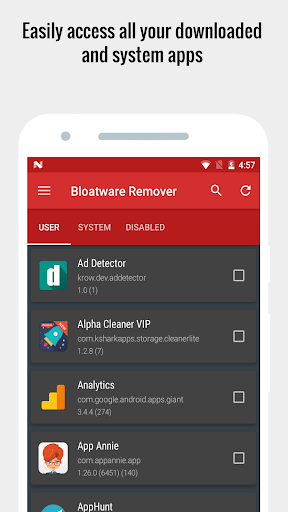 Bloatware Remover VIP [Clean bloat] - 50% OFF  screenshots 7