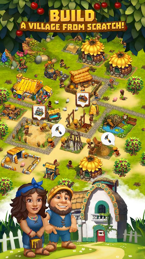 Screenshot 4 The Tribez: Build a Village 9.5.2 APK MOD