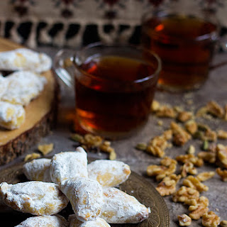 Walnut Filled Persian Pastry - Qottab.