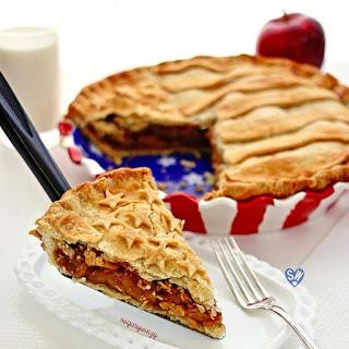 Flaky Pastry Apple Flag Pie