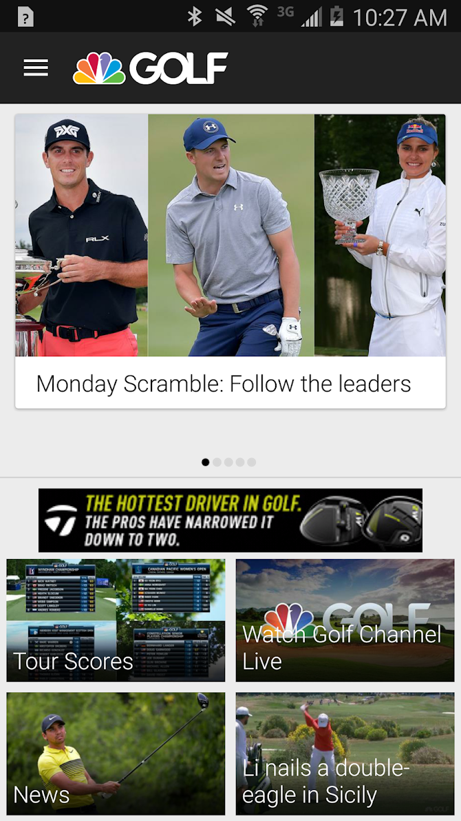 Golf Channel Mobile Android 1