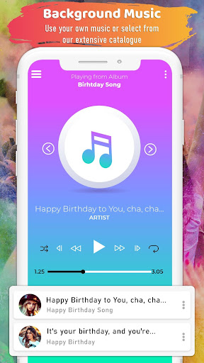 Birthday Video Maker with Song and Name ss3