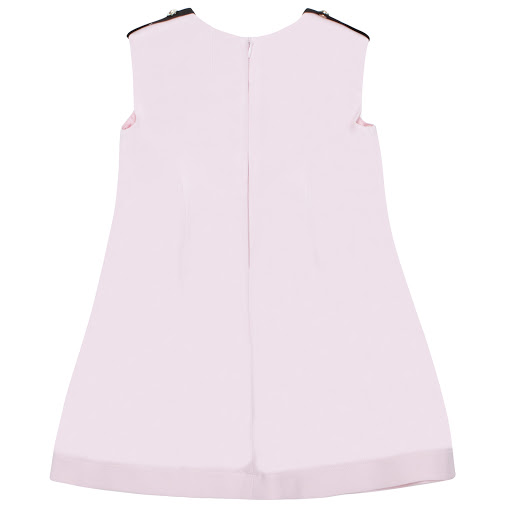 Thumbnail images of Young Versace Pink Sleeveless Button Dress