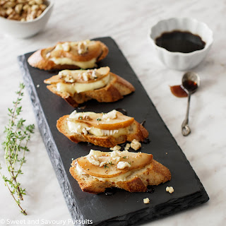 Pear and Brie Crostini.