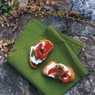 Greg Brown's Roasted Red Pepper Crostini