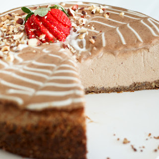 Decadently Healthy Chestnut and Hazelnut Cheesecake.