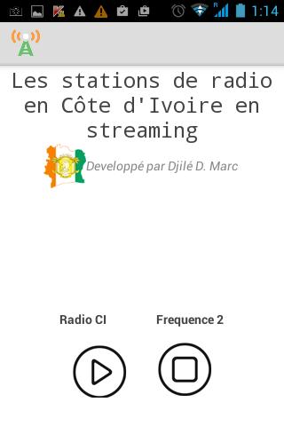 RADIO CÔTE D'IVOIRE 1 0 APK by Dahoure Marc Djile Details