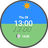 Sun & Moon Position Watch Face