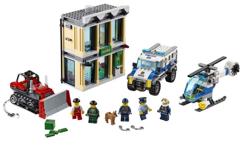 Contenido de Lego® 60140 Huida con Bulldozer