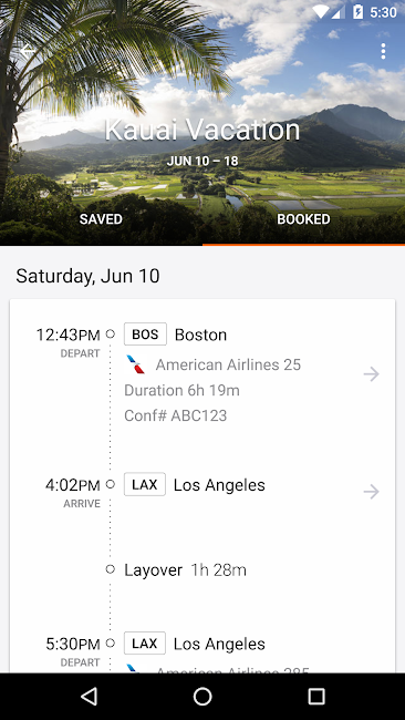 #6. KAYAK Flights, Hotels & Cars (Android)