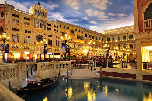 Venetian in Macau by Ryan Li - City,  Street & Park  Street Scenes ( building, travel, boat, people, historic, classical, buildings, asia, macau, trip, light, classic, river )