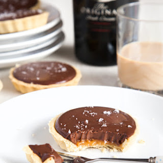 Baileys Salted Caramel Mini Chocolate Tarts