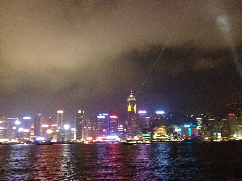 Photo: Hong Kong daily 8:00PM laser show.