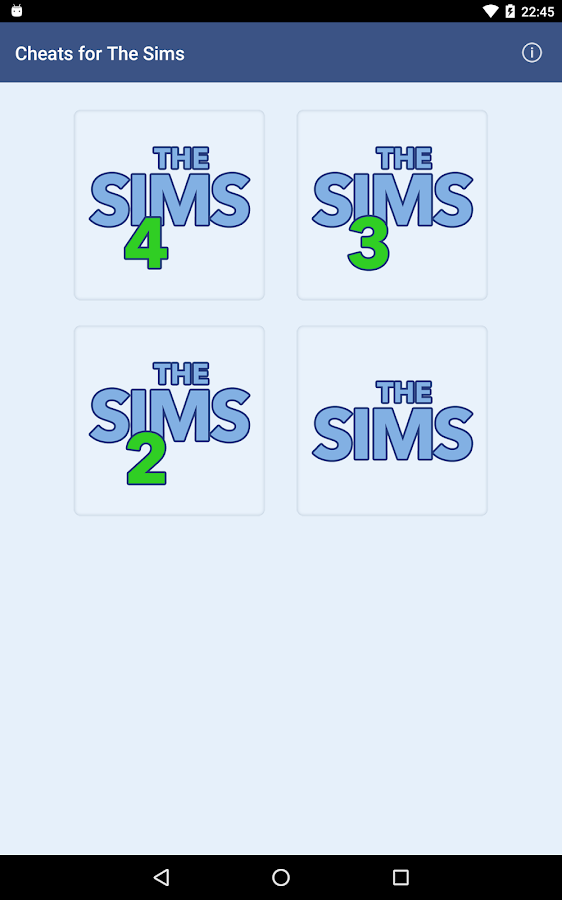 Cheats for The Sims- screenshot