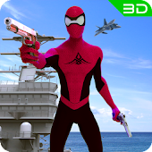 Spider Navy Warship Battle - Spider Hero Shooting