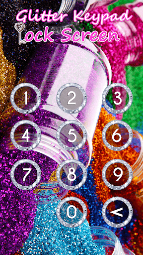 Glitter Keypad Lock Screen 5.0 screenshots 7