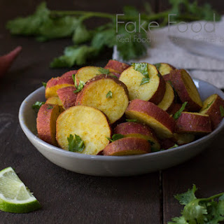 Steamed Japanese Yams with Curry and Lime