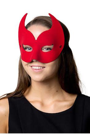Ögonmask Diavolo, röd
