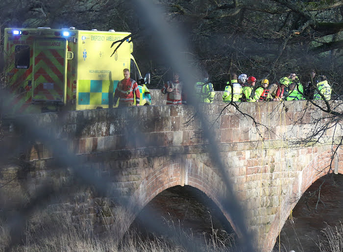 Emergency services search River Severn