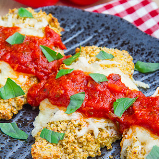 Crispy Baked Quinoa Crusted Chicken Parmesan