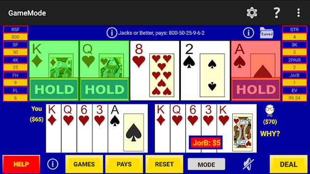 Play Perfect Video Poker Pro apk screenshot