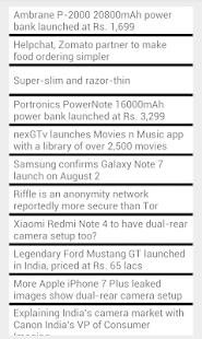 RSS Feed Reader screenshot