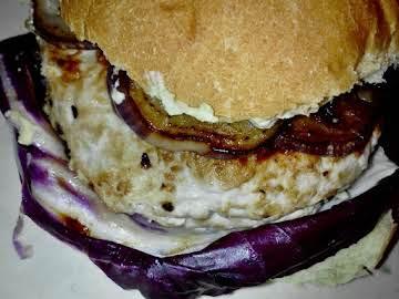 Prosciutto-Wrapped Turkey-Chorizo Burger