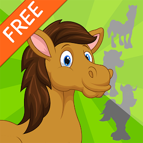 Horse Shadow Puzzles for Kids Free