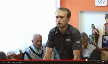 Photo: Přemysl Rozehnal se 27.5.2014 ptá na XXII. veřejném zasedání Zastupitelstva obce Mutěnice na postoj obce k plánované spalovně Viz video: http://jdem.cz/bcbgw5