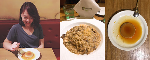 平價好吃😋推推 牛肝菌菇燉飯220 飯後免費付甜點🍮好開心💕