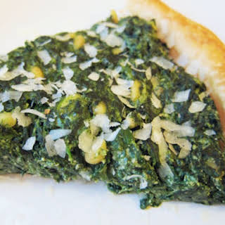 Three-Cheese Hearty Greens and Puff Pastry Tart.