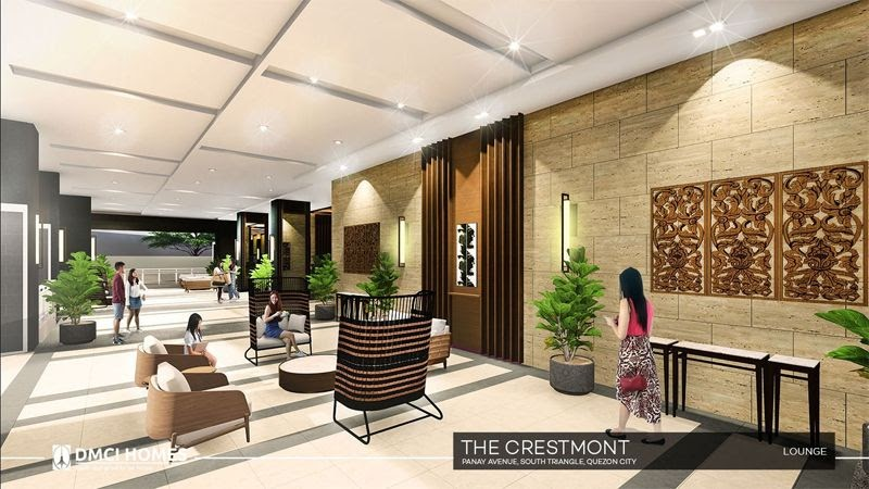 The Cresmont, Panay Avenue, Quezon City lounge area