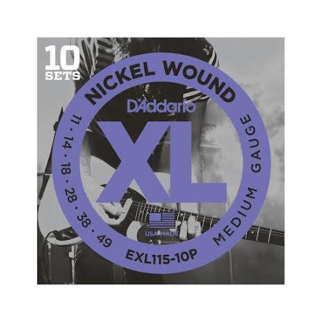 DADDARIO EXL115 Elgitarr Nickel Wound Propack 011 -049 (10-pack)