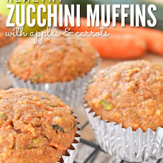 Zucchini Bread Muffins with Apples and Carrots