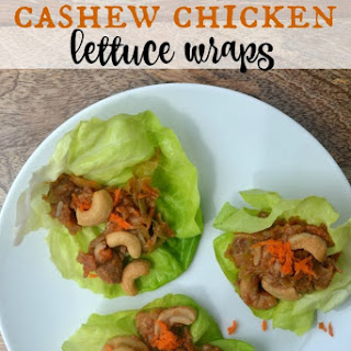 Slow Cooker Cashew Chicken Lettuce Wraps