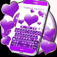 Purple Hearts Keyboard apk