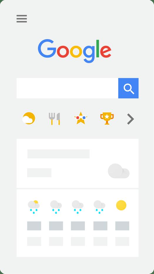 tampilan pintasan kategori konten (content shortcuts)