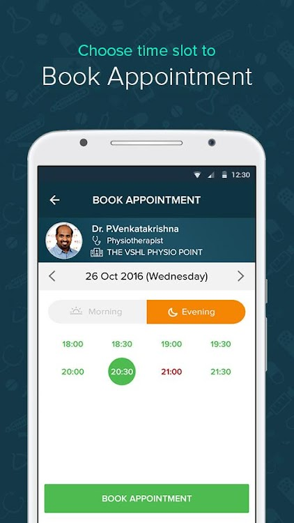 hCue Family I Find & Book Doctor Appointments – (Android