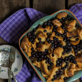 Baked Blueberry Brioche French Toast
