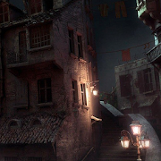 dark city scene live wallpaper