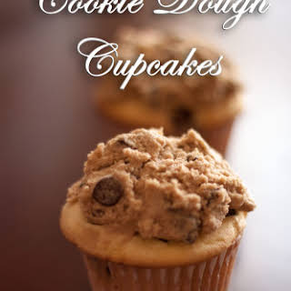 Chocolate Chip Cupcakes with Cookie Dough Frosting.