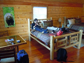 Photo: Inside our cabin on the southern edge of Glacier