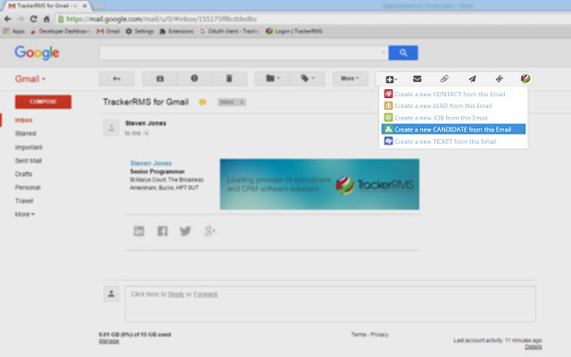 TrackerRMS for Gmail