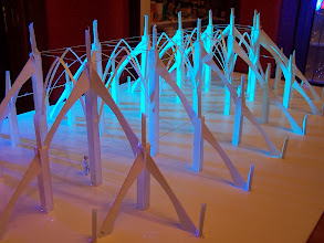 Photo: Foamcore architectural model that proved the project to Burning Man