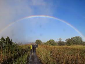 Photo: full rainbow, Victoria Falls, Zimbabwe