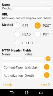 Requester: GET, POST, PUT, HEAD, DELETE - náhled