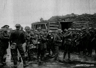 Photo: British Troops On The Western Front Enjoying Coffee At A YMCA Dug Out
