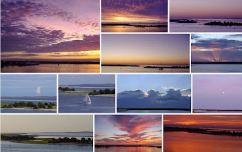 Photo: Beaufort Harbor and barrier islands - photos by Mary Warshaw. More images at: http://beaufortinlet.blogspot.com
