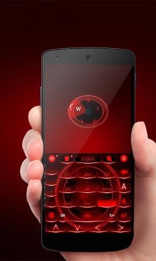 Neon Red GO Keyboard Theme